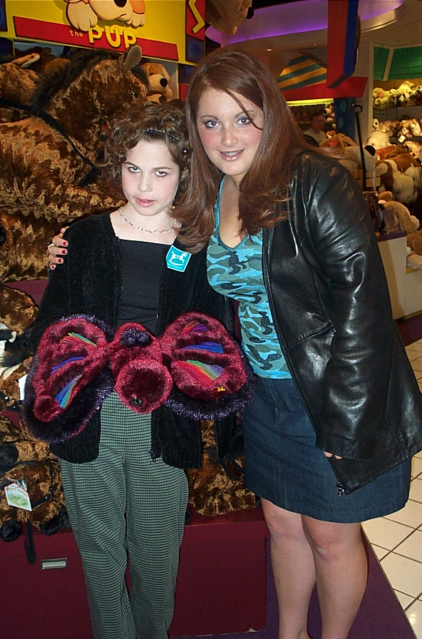 Jillianne and Erica Summers (who designed the butterfly Jillianne is holding)