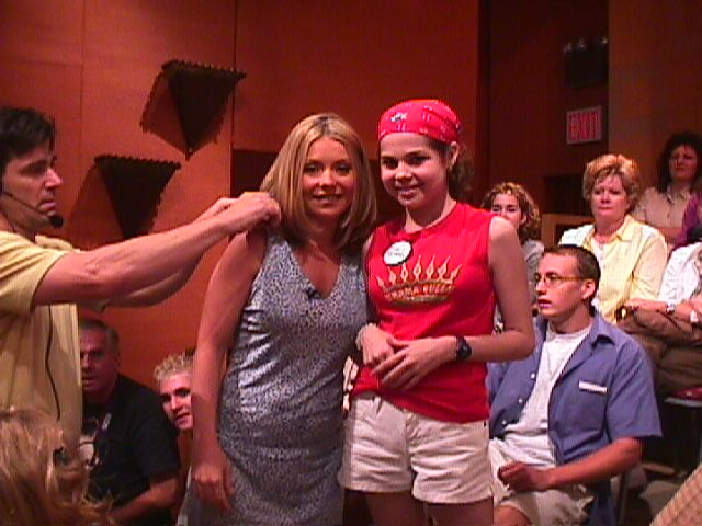 Jillianne with Kelly Ripa at Live with Regis and Kelly during her Make A Wish trip to New York July 2001
